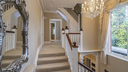 The first floor landing is bursting with character. Picture: Whittaker & Co