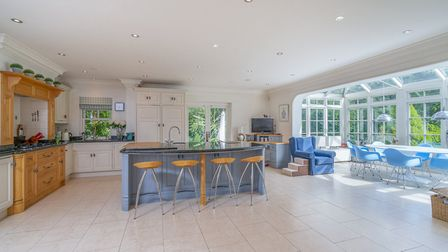 The kitchen/breakfast room opens out onto the conservatory. Picture: Whittaker & Co