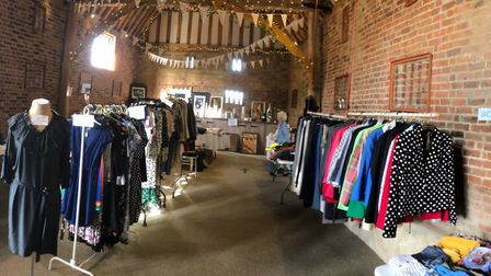 The clothes sale at The Thatch Barn raised £1,600 for two charities.