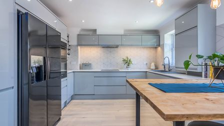 Looking smart: The kitchen of this £450,000 property Ellison photographed in London Road, St Albans,