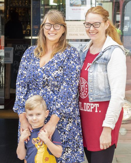 Isaac Deuchars with mum Felicity and aunt Jessica Scrivener - Isaac had an eventful lunch with his f