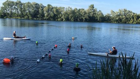 First Strokes Godmanchester Swimming Club have been getting their swimming fix in open water session