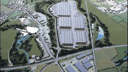An artist's impression of the new rail depot.