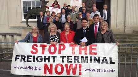 Residents protested against the use of green land to create a new freight rail depot, but St Albans