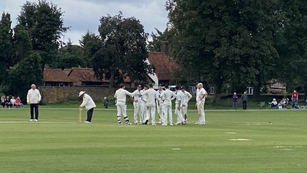 Eaton Socon Cricket Club lost by just five runs in their National Village Cup quarter-final at Redbo