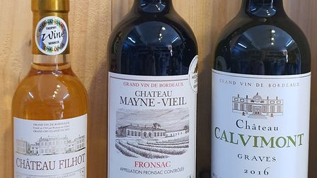 A selection of Bordeaux wines.
