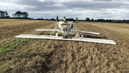 A plane has crashed in Sandridge. Picture: Herts Fire and Rescue Service