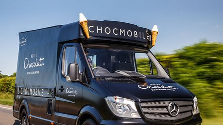 Hotel Chocolat's 'Chocmobile' in Royston. Picture: Hotel Chocolat
