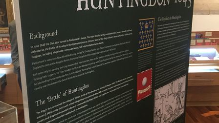 The exhibition at the Cromwell Museum in Huntingdon runs until November.