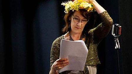 Rehearsals for Company of Ten's upcoming live-streamed show Radio Fun. Picture: Anne Frizell