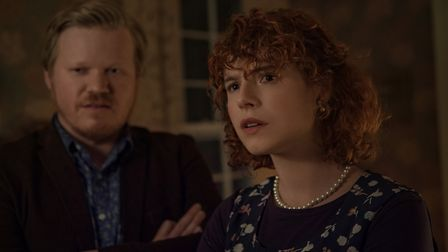 Jesse Plemons as Jake, and Jessie Buckley as his girlfriend in I'm Thinking Of Ending Things. Pictur