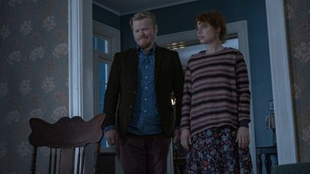 Jesse Plemons as Jake and Jessie Buckley as his girlfriend in I'm Thinking Of Ending Things. Picture