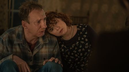 David Thewlis as Father and Jessie Buckley as Young Woman in I'm Thinking Of Ending Things. Picture: