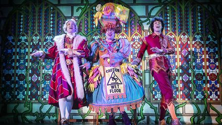 Ian Kirkby, Bob Golding and Andy Day in St Albans pantomime Sleeping Beauty at The Alban Arena. Pict