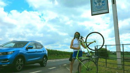 County councillor Annie Brewster has been campaigning for a cycle lane to be installed on the A5183
