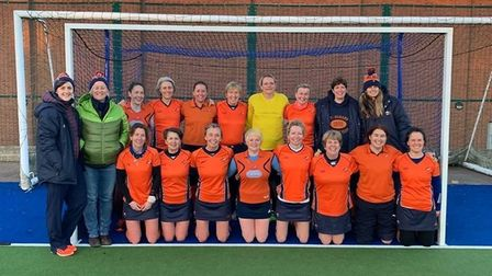 St Albans Hockey Clubs masters side pictured before lockdown.