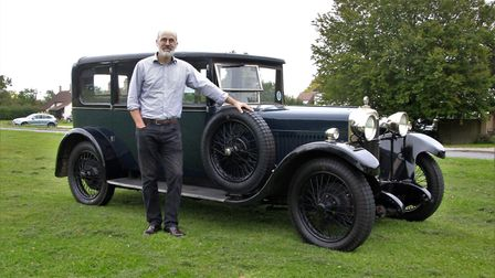 This 1928 Sunbeam Limousine was displayed by Guy Lachlam. Picture: Clive Porter