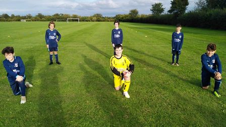 Needingworth u-11s are ready for the new season. Picture: PAUL GIBBONS.