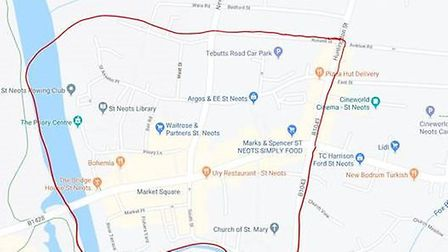 Dispersal Order in place for an area of St Neots this weekend PICTURE: Cambridge