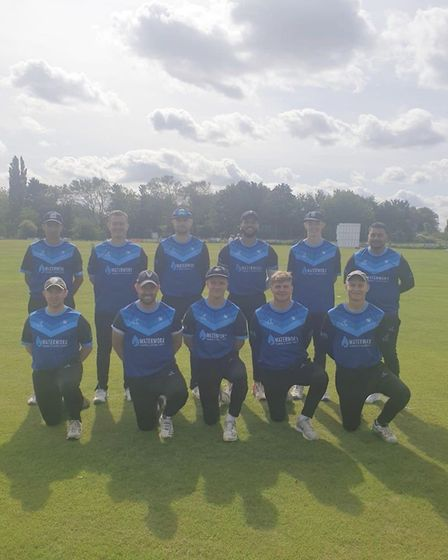 St Ives & Warboys Cricket Club before their victory over Histon in the 2020 Cambs & Hunts Premier Le