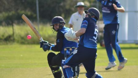 St Ives & Warboys on their way to victory over Histon in the Cambs & Hunts Premier League play-off f