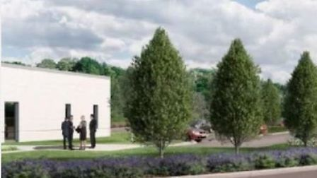 An artist's impression of what the crematorium in Huntingdon could look like. Picture: HDC.