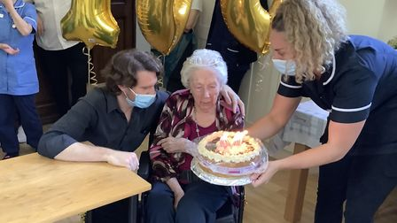 Margaret Almond has celebrated her 100th birthday.