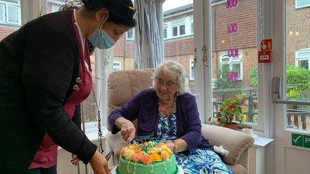 Grace Muriel House resident Enid Robinson has celebrated her centenary.