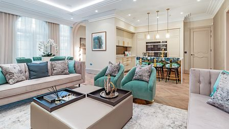 The interior design is by award-winning Alexander James Interiors. Picture: Griggs