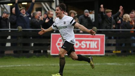 Spyros Mentis was among the scorers as Royston Town beat Newmarket Town in the FA Cup. Picture: DANN