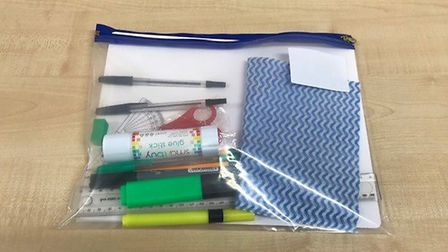 Stationery packs have been put together by BVC staff. Picture: BVC