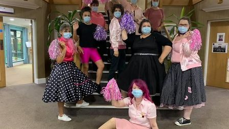 Grease night at Nelson Lodge care home in St Neots.