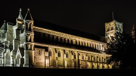 Grove House photography competition. St Albans Abbey at Night by Chris Williams