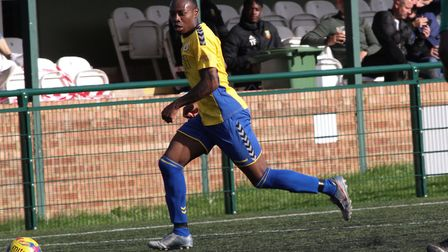 Munashe Sundire was on form for St Albans City against Wealdstone. Picture: JIM STANDEN