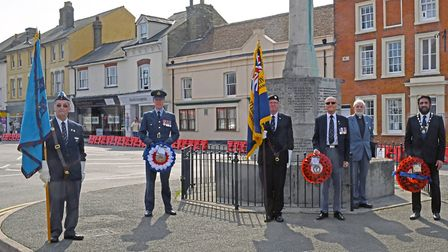 Right to Left: Brian Reynolds from RAF Association, RAF Wyton Station and Wing Commander Keith Slack
