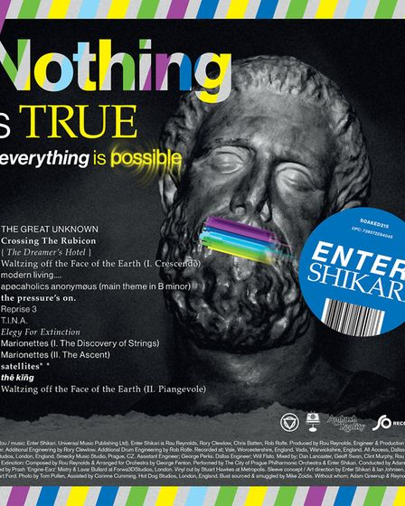 The cover of latest Enter Shikari album Nothing Is True & Everything Is Possible, released on So Rec