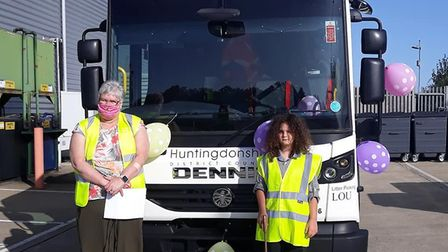 Pictured is Faith Haddox who won the competition and Lou Curtin (Litter Picking Lou).