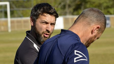 St Ives Town manager Ricky Marheineke says the win over Biggleswade Town was deserved. Picture: DUNC