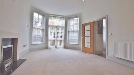The living room ceiling is 10ft high. Picture: Belvoir