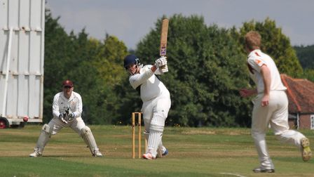 Ed Hales produced a sensational innings for Redbourn in the Village Cup final. Picture: DANNY LOO