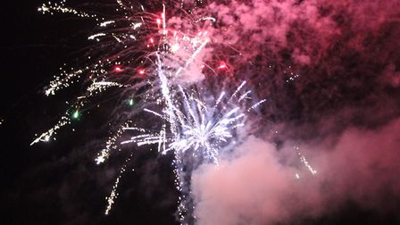 Cathedral fireworks, St Albans