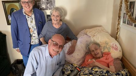 Theresa is pictured with sons Mark and John and daughter Collette Crowther.
