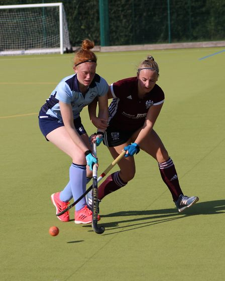 Tanya Sargeant in action for St Neots against Bedford. Picture: CHRISTOPHER FAULKNER