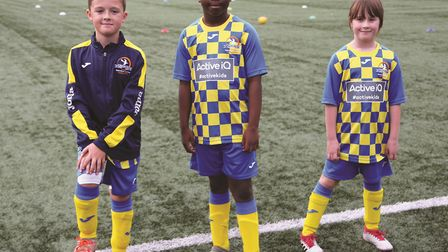 Things are looking up for Yaxley FC Under 9s who have just had their kit sponsored by Huntingdon-bas