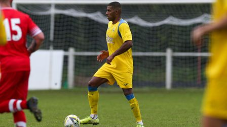 Chris Cordara-Soanes of Harpenden Town in the match between Harpenden Town and London Colney. Pictur