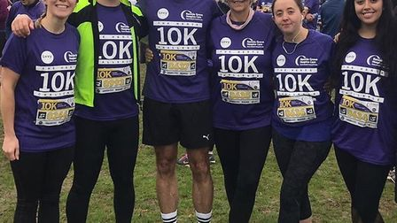 Jo and her team taking part in last year's Herts 10K.