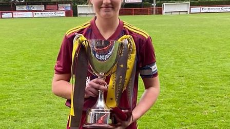 Molly, a sixth form student at St Peter's School. Huntingdon, captained the Ipswich Town Women's tea