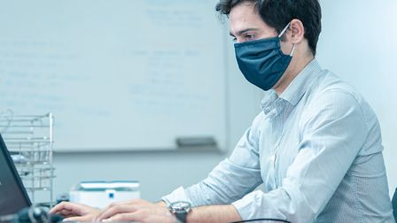 Medical masks protect the wearer against large airborne particles, saliva and other fluids produced