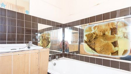 This koala image is a unique feature of the bathroom. Picture: Collinson Hall