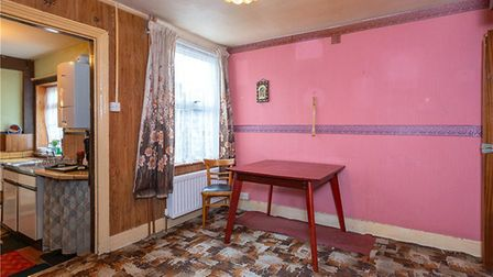 The first floor is accessed via the dining room, which also leads to the kitchen. Picture: Collinson